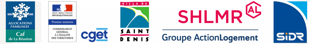 Partenaires qui soutiennent la Maison des familles La Source : la Caf de La Réunion, le Commissariat général à l'égalité des territoires, la ville de Saint-Denis, la SHLMR et la SIDR